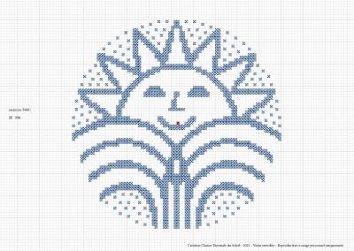 Point de croix – «Soleil»