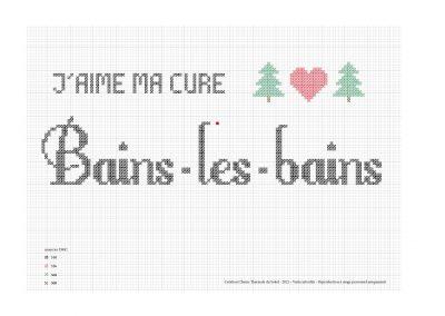 Point de croix – «J'aime ma cure à Bains-les-Bains»