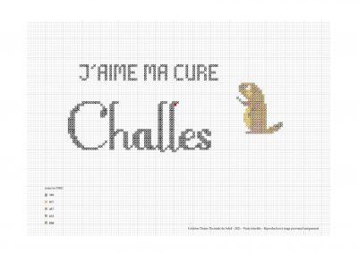 Point de croix – «J'aime ma cure à Challes»