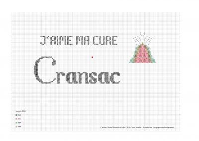 Point de croix – «J'aime ma cure à Cransac»