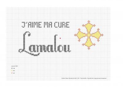 Point de croix – «J'aime ma cure à Lamalou»