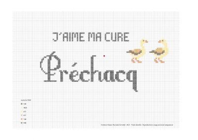 Point de croix – «J'aime ma cure à Préchacq»