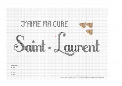 Point de croix – «J'aime ma cure à Saint-Laurent»